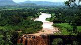 Waterfall nile river