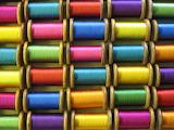 Reels of silk thread