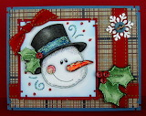 ^ Christmas - Frosty Buttons and Bows