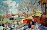 Konstantin Yuon, Spring sunny day, 1910