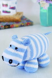 Knitted Hippo Toy