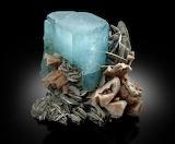 Science Tumblr hematitehearts Aquamarine, Albite & Muscovite Pak