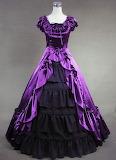 Purple black victorian dress