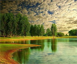 Clouds over a Lake