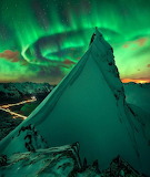 """Landscape wonders-of-the-cosmos """"Aurora Over Norway"""" """"Max Rive"""""""