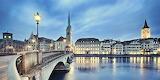 Zurich switzerland at dusk