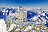 Sphinx Observatorium, Luftaufnahme, Swizerland