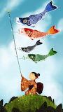 Flying koinobori on children's day