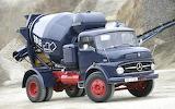 Mercedes Benz beautiful old concrete mixer
