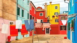 Burano island-colored houses