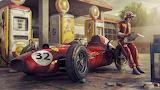 Ferrari F1 Retro Art