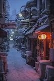 """Cityscape tumblr wonderlartcafe Winter """"Kyoto, Japan"""""""
