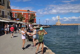 Tourists at Chania harbour