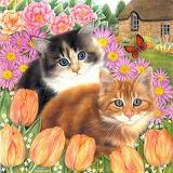 Kittens+met+vlinder