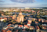 Partly cloudy view St. Mary's church Stadt Stralsund Germa