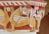 Chapiteau aux griffons - église de Civaux