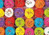 Colours-colorful-cupcakes with sprinkles-puzzle warehouse