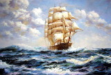 China Boat oil painting20096121144240