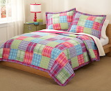 Colorful Plaid Bedroom