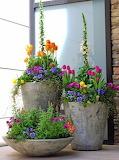 ^ Front door flower pots for Spring