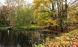 Park wokół zamku w Oporowie