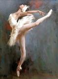 girl ballet painting