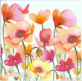 decoupage poppies