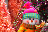 colorful snowman