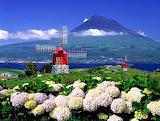 Portuguese Azores Island and Volcano