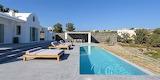 Luxury rural Santorini Villa, pool and garden