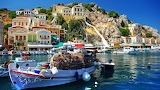 city-fishing-boat-seaside-village-hill-harbor