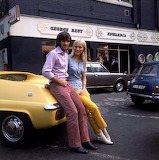 George Best outside his shop 1969