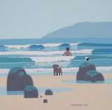 Bathing at a Cornish Beach by Sasha Harding