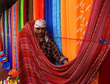 Karachi Pakistan Sunday textile market on the sidewalks of CC0