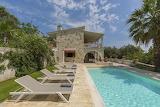 Luxury rustic stone villa and pool in Corfu