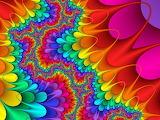 Retro colorful rainbow colored design