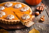 ^ Pumpkin pie with whipped cream