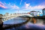 Ha'penny pedestrian Bridge over River Liffey Dublin Ireland