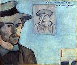 Émile Bernard, auto portrait avec Gauguin, pour Van Gogh, 1888