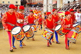 Children drumming group