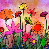 Garden at dusk, Robin Mead