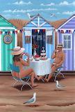 Beach Huts Afternoon Tea - Peter Adderley
