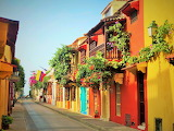 ^ Street in Cartagena, Columbia