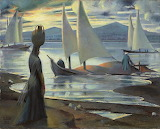 Sunset On The Nile At Luxor by Mahmoud Said 1945