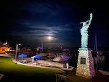 Mackinac Island Full Moon Over Harbor by JJ Shaffer