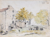 Farmhouse and Trees by Georges Michel