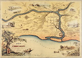 Map of 1833 Chicago, ICHi-031183
