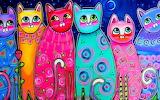 multicolored cats