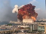 Beirut port - Few seconds before the terrible explosion