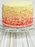 Ombre cake @ Nish Bakes